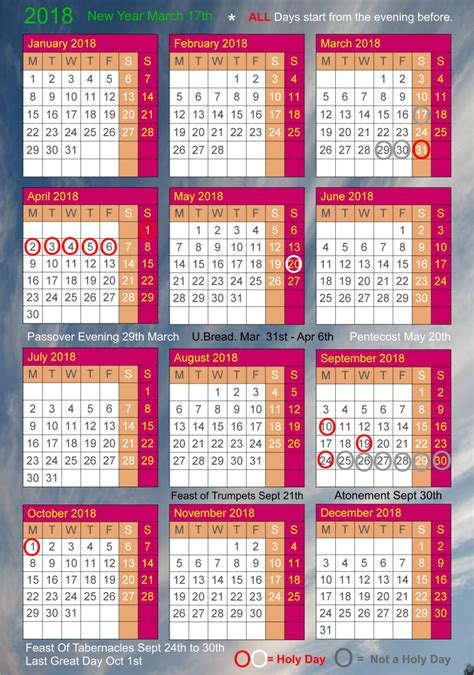 Passover 2018 Calendar The Temple Website Index Page1