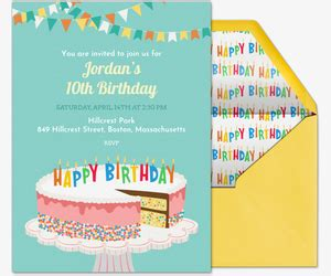 Childrens Email Birthday Cards