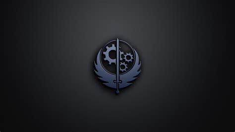 Brotherhood Of Steel Logo Wallpaper brotherhood of steel logo from fallout 4 1366x768