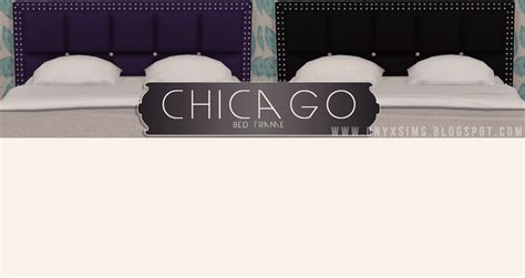 My Sims 4 Blog Chicago Bed Frame By Kiararawks Bed Frame Chicago