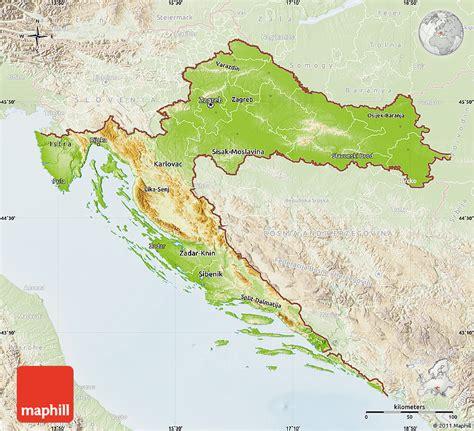 physical map of croatia physical map of croatia lighten