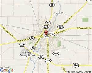 Tiffin Ohio Map by Tiffin Ohio