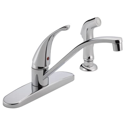 one handle kitchen faucets p188500lf single handle kitchen faucet