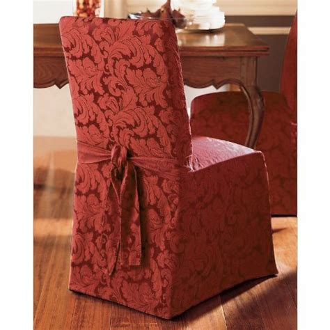sure fit scroll dining room sure fit scroll box cushion dining room chair slipcover burgundy general general