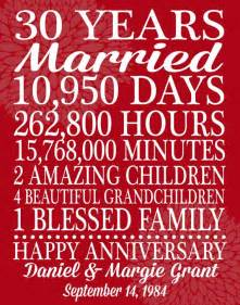 sayings for 30th wedding anniversary 25 best ideas about 30th anniversary gifts on