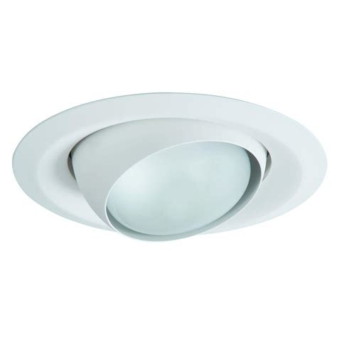 Recessed Lighting Fixture Halo E26 Series 6 In White Recessed Ceiling Light Fixture Trim With Adjustable Eyeball 6130wh