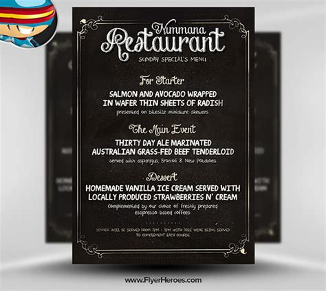 menu psd template free restaurant flyer templates 65 free word pdf psd eps