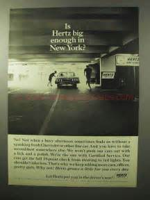 rent a car in new york 1964 hertz rent a car ad big enough in new york