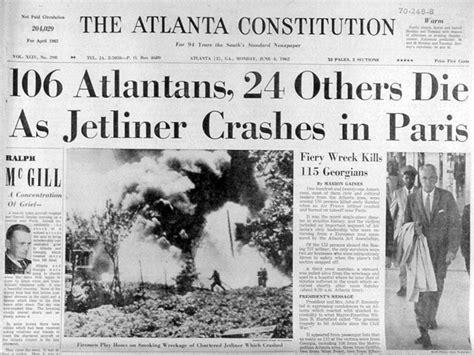 atlanta journal constitution obituary section plane crashes in georgia elsewhere