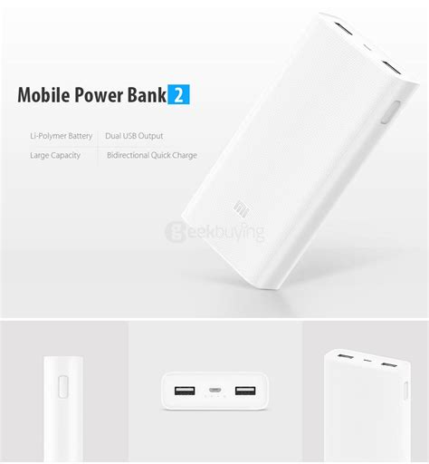 Powerbank Xiaomi 20000mah original xiaomi 20000mah power bank 2 white