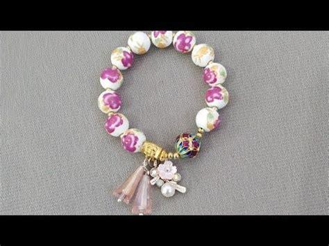 diy tutorial  membuat gelang glass bead tutorial