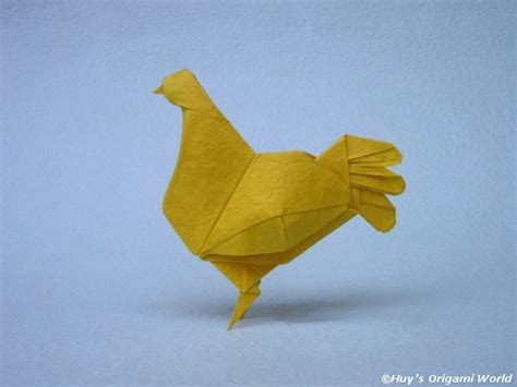 Origami Hen - pin by 193 tila on origami kirigami papel cardboard