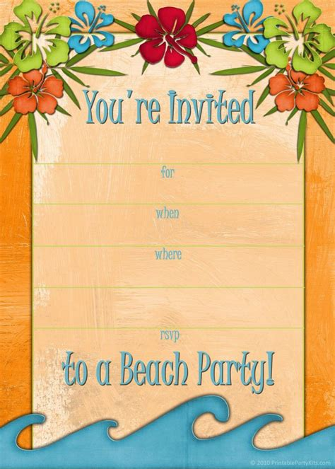 luau invitation template free free printable luau and bbq invitations