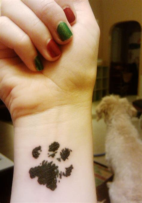 tattoo animal paws 40 amazing dog paw tattoo design ideas
