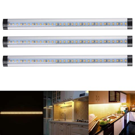3pcs kitchen cabinet shelf counter led light bar