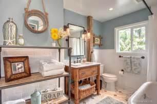 Country Themed Bathroom Accessories Beachy Casual Bathroom Beach Style Bathroom San
