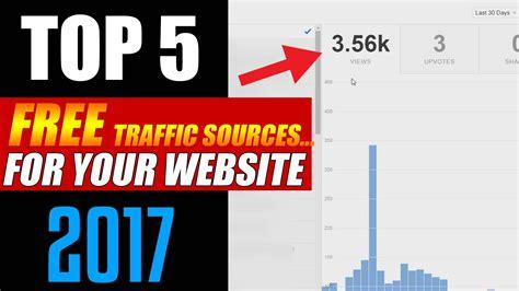 best website traffic top 5 best free website traffic sources 2017