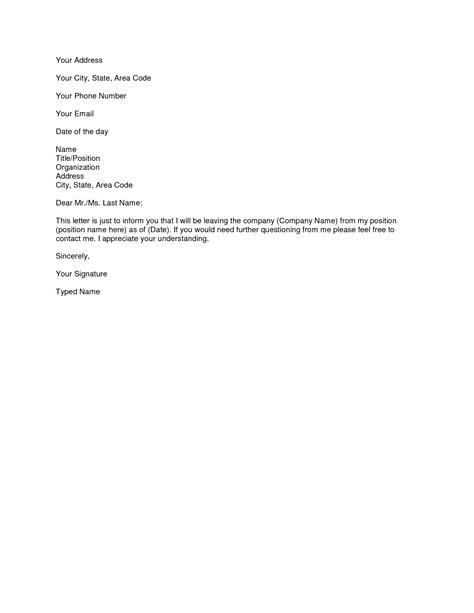 fresh sample resign letter from job free cover resignation format