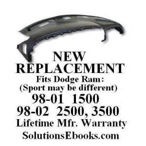 2001 Dodge Ram 1500 Dashboard Replacement Buy 1998 2001 Dodge Ram 1500 Replacement Dashboard Top