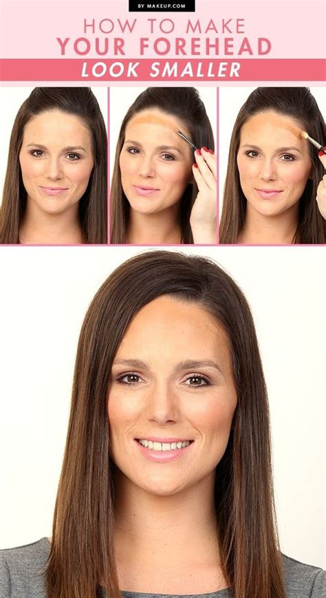how to cut bangs to make forehead smaller the trick for making your forehead look smaller the