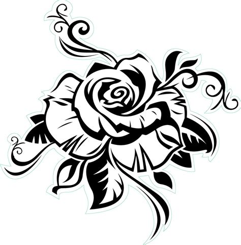 outline of rose tattoo tattoos designs ideas and meaning tattoos for you
