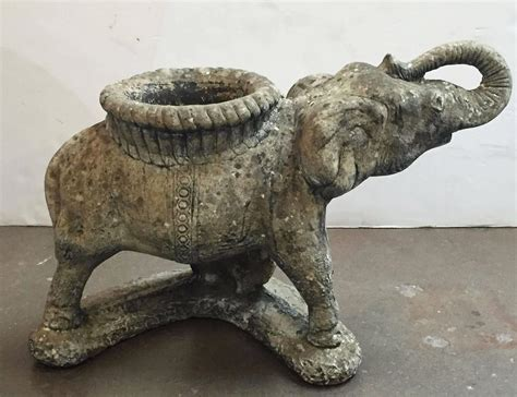 Elephant Planters by Large Garden Elephant Planter At 1stdibs
