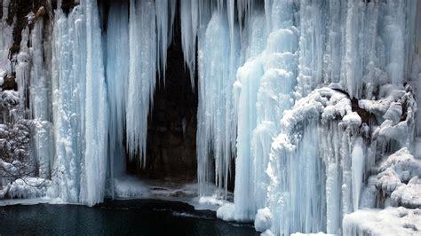 frozen waterfall wallpaper 10 stunning winter season hd wallpaper bighdwalls