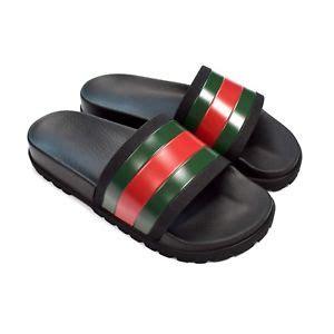 Sandal Wedges Jepit Gucci Jh87 15 nwt gucci mens black web stripe logo slide sandals flip