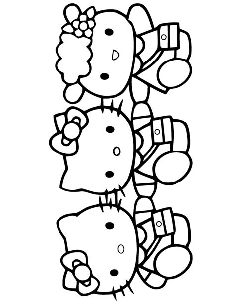 coloring pictures of hello kitty and her friends free hello kitty friends coloring pages