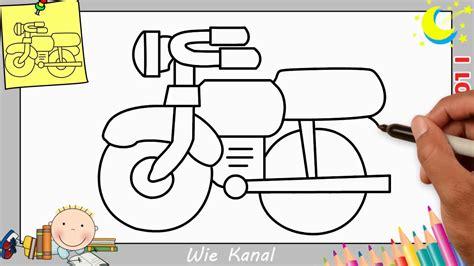 Motorrad Lernen by Motorrad Zeichnen Lernen Einfach Schritt F 252 R Schritt F 252 R