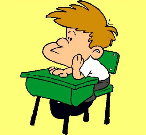 imagenes niños sentados dibujo de ni 241 o en el pupitre pintado por sentado en