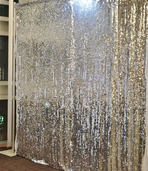 sequin curtain 10 ft x 20 ft sequin silver backdrop photo prop curtain