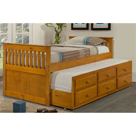 captain bed with trundle donco kids captain bed with trundle reviews wayfair