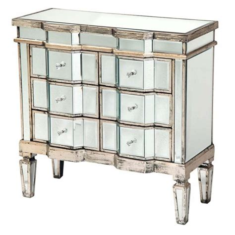 Antique Mirrored Chest Of Drawers by Antique Venetian Mirrored Silver 3 Chest Of Drawers Shabby Chic Free Delivery Coco54