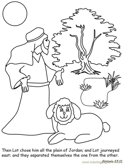 coloring page abraham and lot abram and lot coloring home