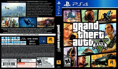 Dvd Ps4 Gta V grand theft auto v dvd cover 2014 usa ps4