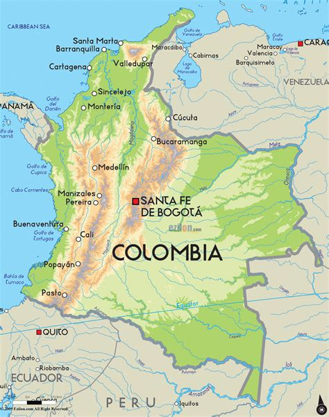 map of colombia south america norfolk county naturalist colombia birding 2014