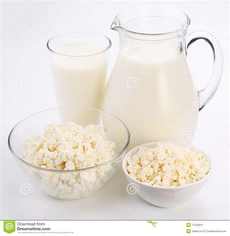 Cottage Cheese From Milk by Milk And Cottage Cheese Stock Image Image 17245811