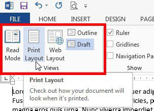 layout options in word 2013 why does my screen look different in word 2013 solve