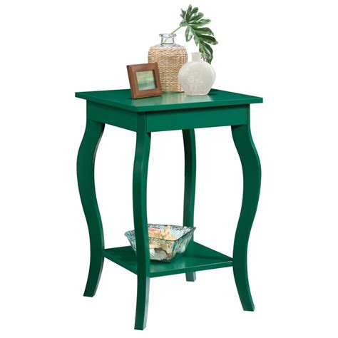 sauder harbor view table sauder harbor view side table in emerald green 420134