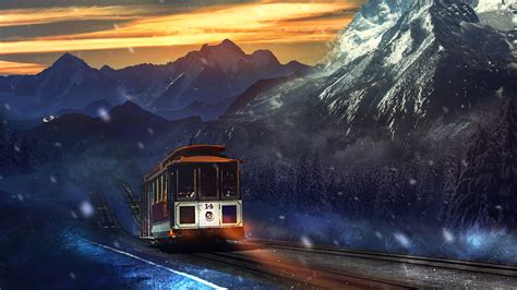 train journey mountains wallpapers hd wallpapers id