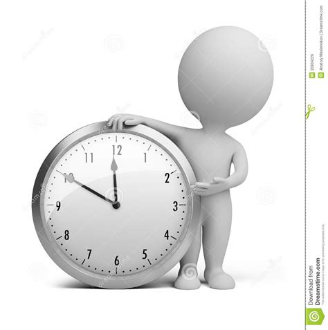 Abstract Clocks by 3d Small People Clock Stock Illustration Illustration