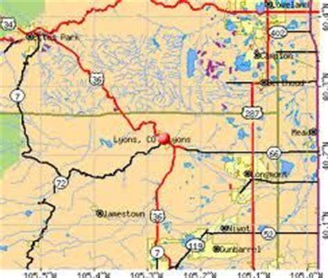 map of colorado lyons lyons colorado lyons colorado
