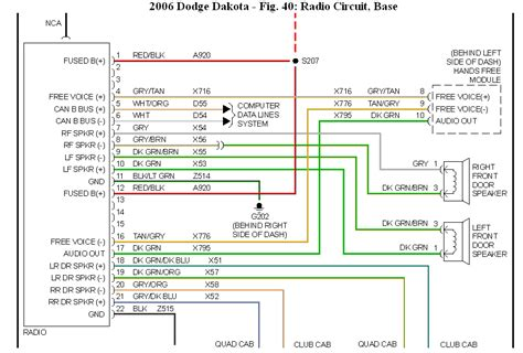 2006 dodge ram radio wiring diagram 2005 dodge durango