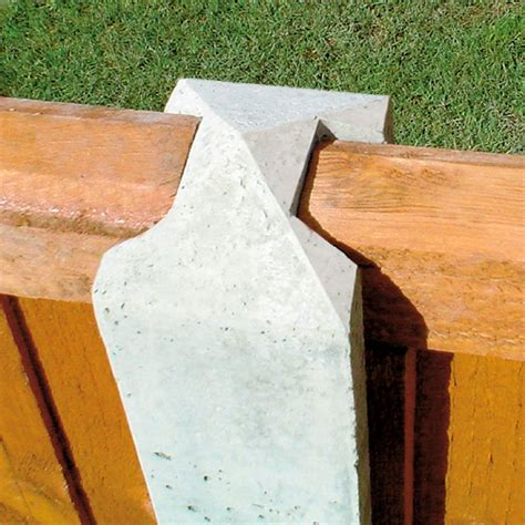 forest lightweight concrete fence posts pack   homebase