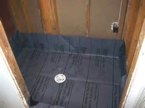 pre fab shower pan vs pvc shower liner