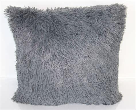 Fluffy Throw Pillows Shag Throw Pillow Grey Shag Throw Pillow Fluffy By
