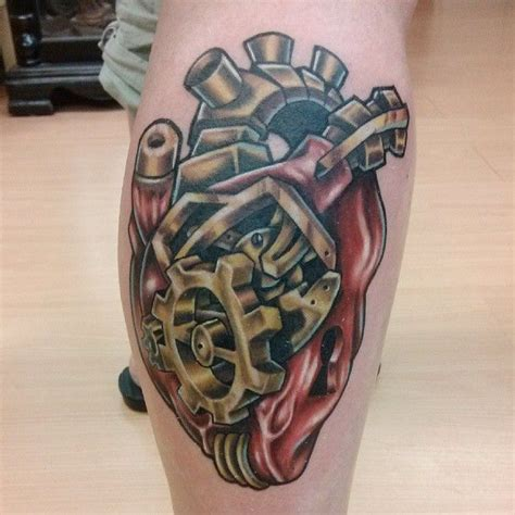 mechanical heart tattoo 27 car parts tattoos