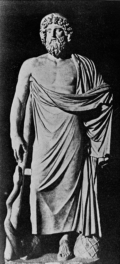 File:Aesculapius statue, with staff and delphic omphalos