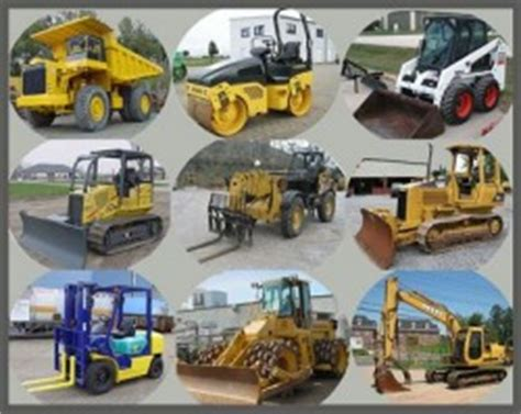 the types of construction equipment home